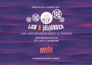 Law and (dis)Order party second edition A.G.G.F.